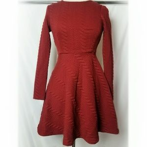 Betsey Johnson | Red Cable Knit Fit & Flare